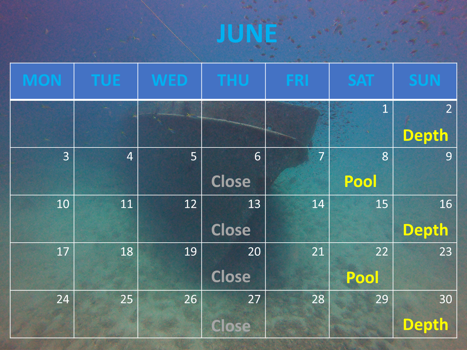 June Freediving class